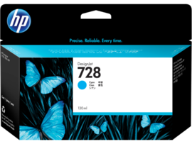 Genuine HP 728, Cyan 130ml. Ink Cartridge