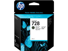HP 728, Matte Black 300ml. Ink Cartridge