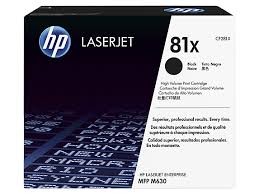 HP MICR, 81X LaserJet Toner Cartridge cf281x