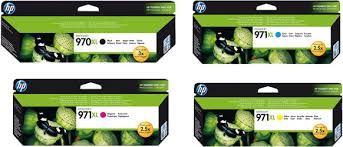 Genuine HP OfficeJet 970XL, 971XL Value Pack ink cartridges