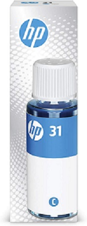 Original HP Smart Tank 355, 450, 455, 457, 551, 555, 571, 655 Cyan Ink Bottle 31 Cyan