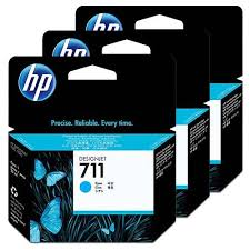 Genuine HP 711 Cyan Triple 3 Pack ink cartridges