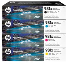Genuine HP 981X Page Wide 556, 586 Value Pack Ink Cartridges