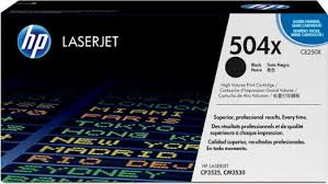 HP 504X, Black LaserJet CM3530, CP3525 toner cartridge ce250x
