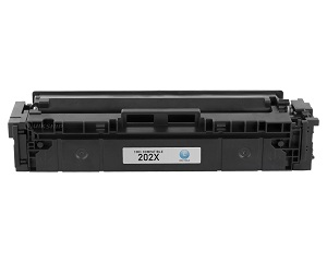 Compatible HP 202X, Cyan LaserJet Toner Cartridge cf501x