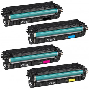 HP 508X, LaserJet Compatible Value Pack Toner Cartridges