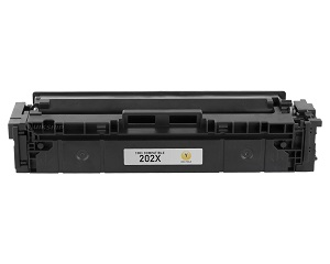 Compatible HP 202X, Yellow HP LaserJet Toner Cartridge cf502x