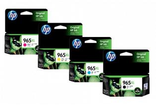 Original HP OfficeJet Pro 9010, 9012, 9016, 9018, 9019, 9020, 9026, 9028 Multicolour Pack Ink Cartridges 965XL