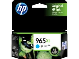 Original HP OfficeJet Pro 9010, 9012, 9016, 9018, 9019, 9020, 9026, 9028 Cyan Ink Cartridge 965XL
