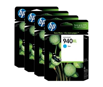 Genuine HP Officejet Pro 8000, 8500, 8500A Multicolour Multipack High Yield Ink Cartridge 940XL