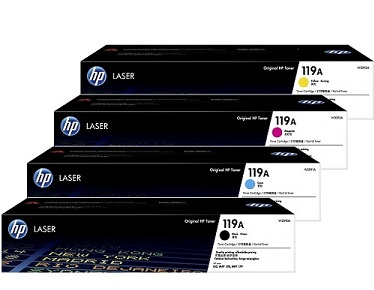 Original HP Colour LaserJet 150a, 150nw, 178nw, 178nwg, 179fnw, 179fwg Multicolour Multipack Toner Cartridges 119A