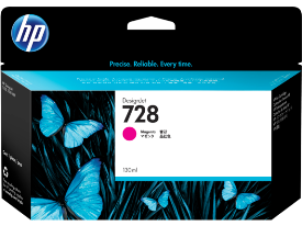 HP 728, Magenta 130ml. Ink Cartridge