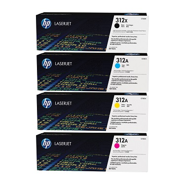 Original HP Colour LaserJet M476, M476dn, M476dw, M476nw Multicolour Multipack Toner Cartridges 312A, 312X
