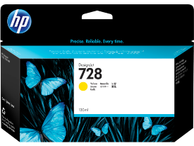 HP 728, Yellow 130ml. Ink Cartridge
