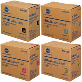 Konica Minolta Bizhub C3350, C3850, TNP48 Value Pack Toner Cartridges