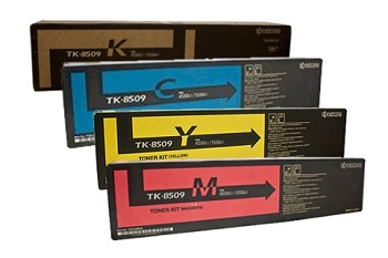 Kyocera TK-8509, Combo Value Pack Genuine Toner Cartridges