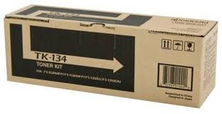 Genuine Kyocera Printer  FS1028mfp, FS1128mfp, FS1300d, FS1300dn, FS1300dt, FS1350dn Black Toner Cartridge Kit TK-134