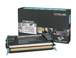 Genuine Lexmark C736, X736, X738, C736H1KG Black Toner Cartridge