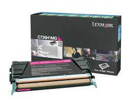 Genuine Lexmark C736, X736, X738, C736H1MG Magenta Cartridge