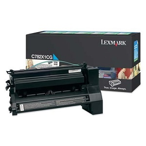 Genuine Lexmark C780 C782 X782 Cyan Toner Cartridge C782X1CG