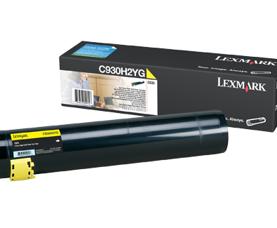 Genuine Lexmark C935, Yellow C930H2YG Toner Cartridge