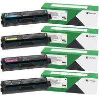 Genuine Lexmark Colour Laser Printer C3326dw, MC3326adwe Multicolour Pack High Yield Toner Cartridges C333HC0, C333HK0, C333HM0, C333HY0.