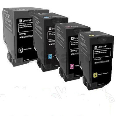 Genuine Lexmark Colour Laser Printer CX725 Multicolour Multipack High Yield Toner Cartridges 84C6HK0, 84C6HC0, 84C6HM0, 84C6HY0