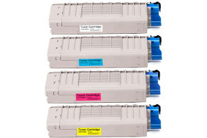 Compatible Oki C710, C711 Multicolour Value Pack Toner Cartridges 44318612, 44318610, 44318609, 44318611