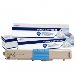 Compatible Oki C301, C321, MC342 Cyan Toner Cartridge 44973547