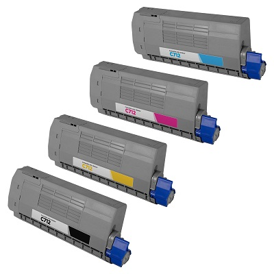 Oki C712, Compatible Value Pack Toner Cartridges