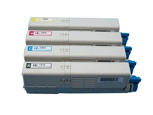 Oki C532, MC563, MC573, C542 Compatible Value Pack Toner Cartridge