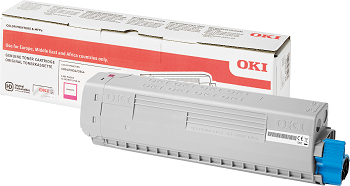 Genuine Oki C834nw, C834ndw Colour Laser Printer Magenta Toner Cartridge 46861310