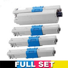 Refurbished Polar Oki C511, C531, MC562 Multicolour Pack Toner Cartridges 44973552, 44469727, 44469726, 44469725