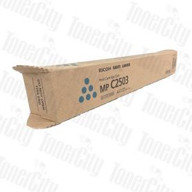 Genuine Ricoh Colour Printer MPC2003, MPC2004, MPC2503, MPC2504 Cyan Toner Cartridge 841935