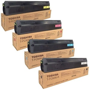 Genuine Toshiba EStudio Colour 2505AC, 3005AC, 3505AC, 4505AC, 5005AC Multicolour Multipack Toner Cartridges, TFC505K, TFC505C, TFC505M, TFC505Y