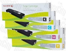 Genuine Fuji Xerox DocuPrint CP405d, CM405df Multicolour Value Pack Toner Cartridges CT202033, CT202034, CT202035, CT202036